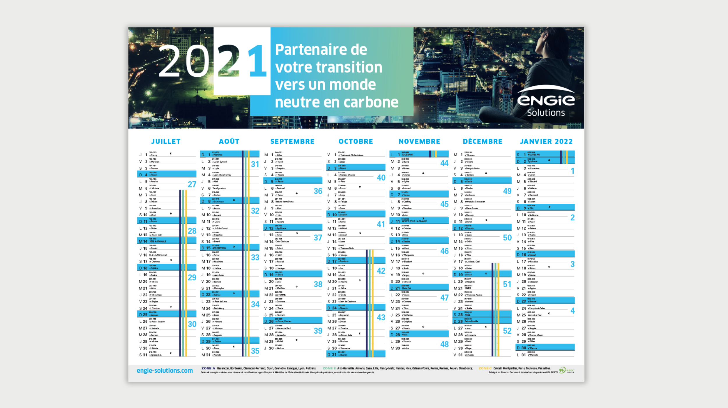 Engie Solutions - Calendriers