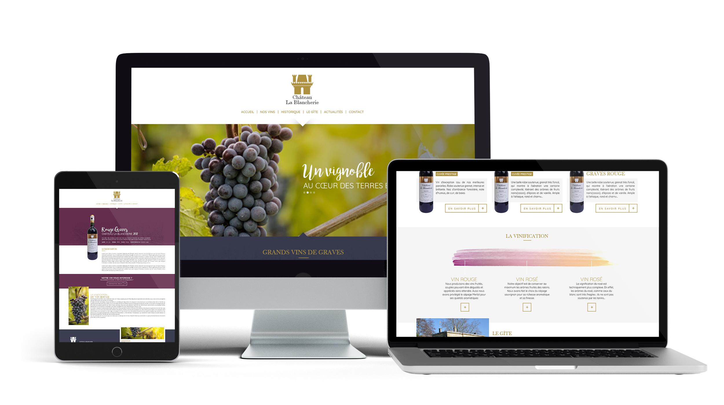 Château La Blancherie - Site internet