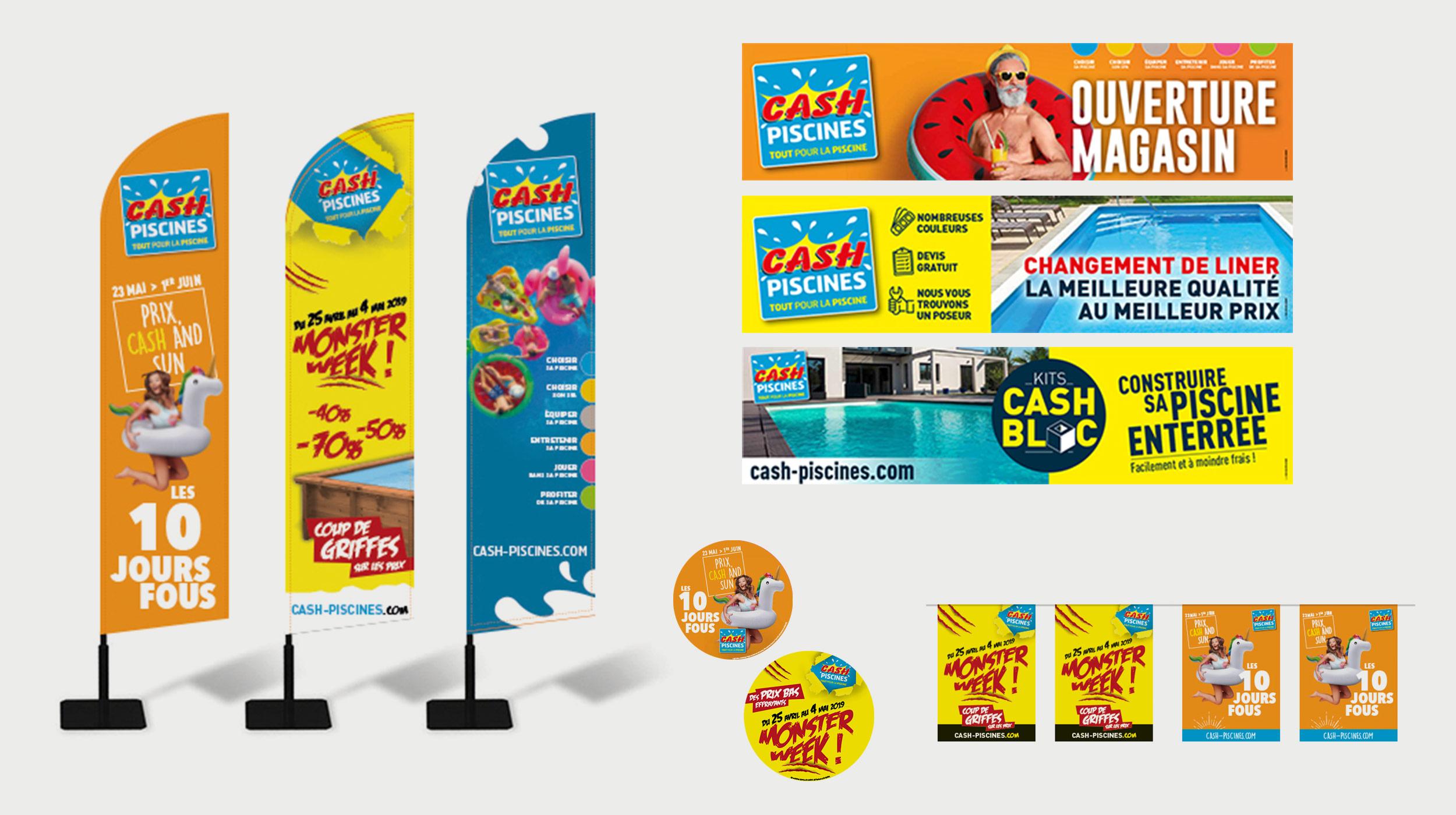 Kit de communication - Cash Piscines