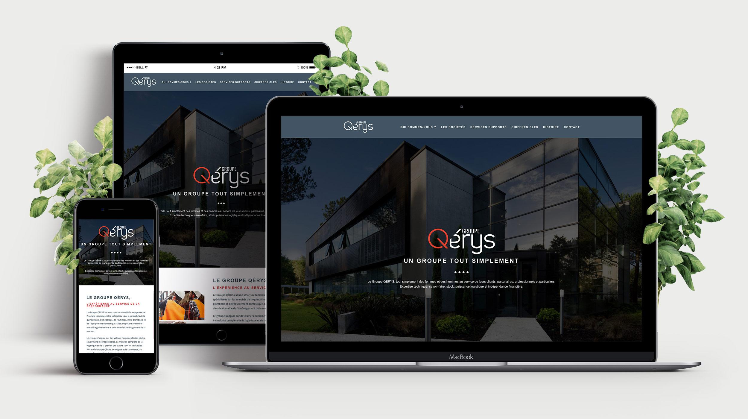 Conception site internet - Qérys