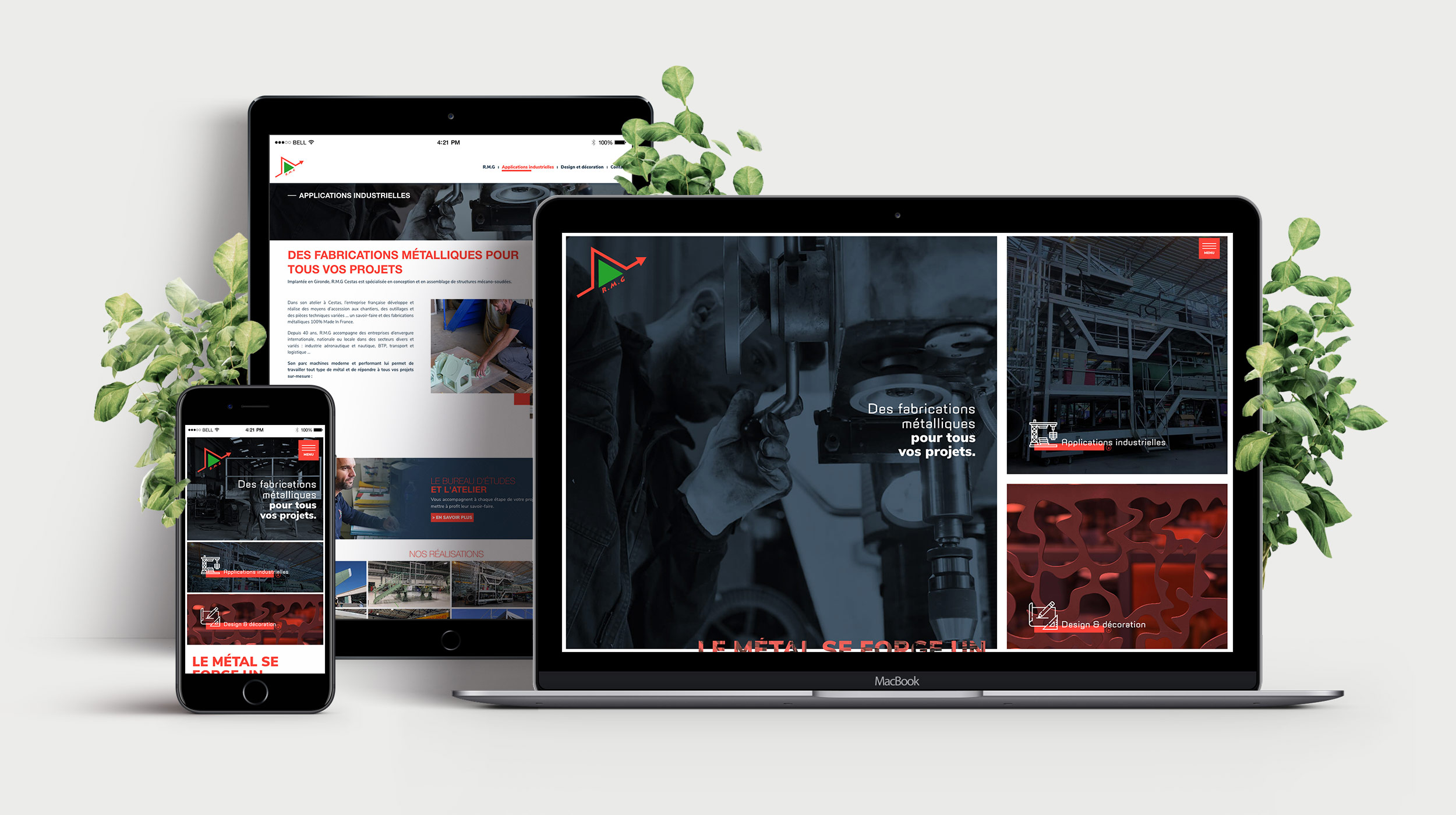 RMG Cestas - CONCEPTION Site internet