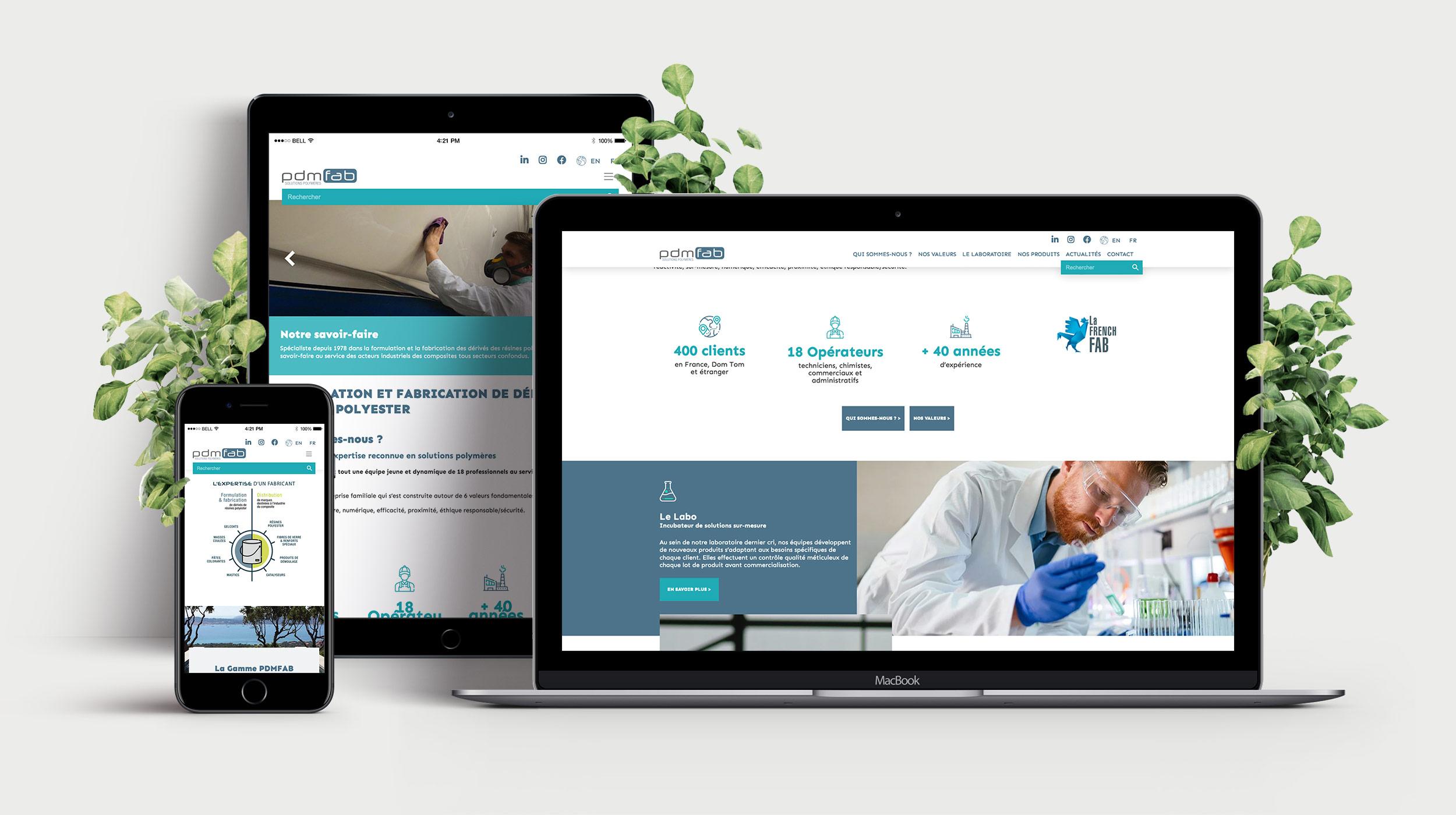 PDM FAB - Site internet