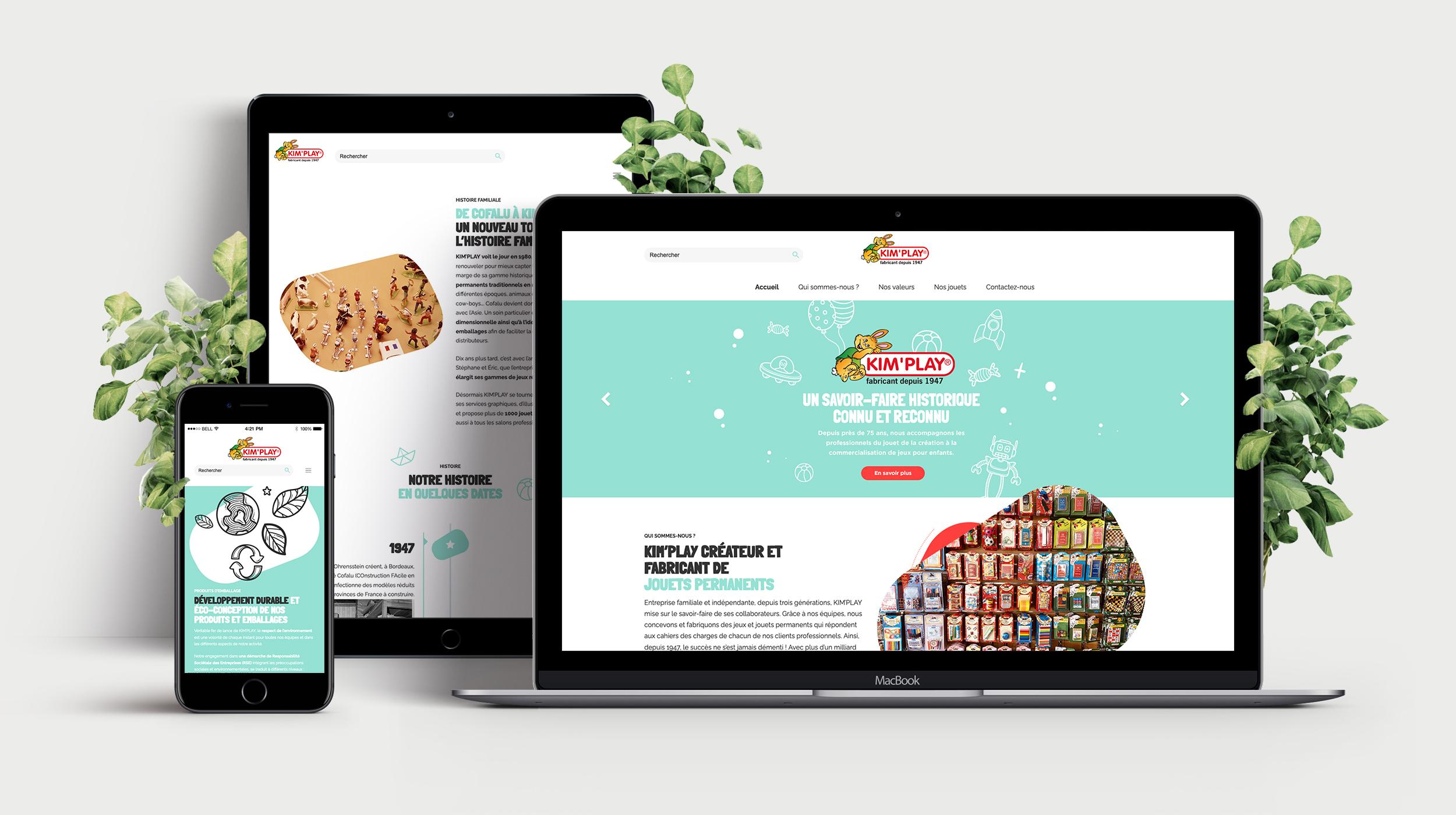KIM'PLAY - Création site internet