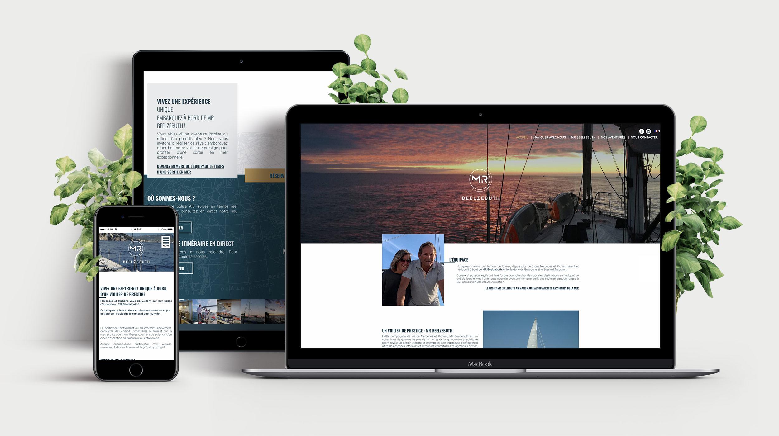 MR BEELZEBUTH - Création site internet